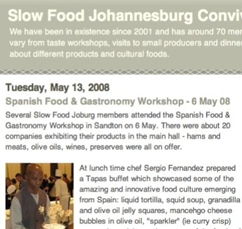 Slow Food Johannesburg Convivium  Spanish Food & Gastronomy Workshop - 6 May 08-1